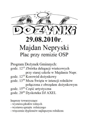 Plakat-dożynki-2010